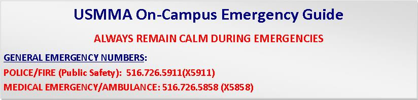 USMMA On-Campus Emergency Guide