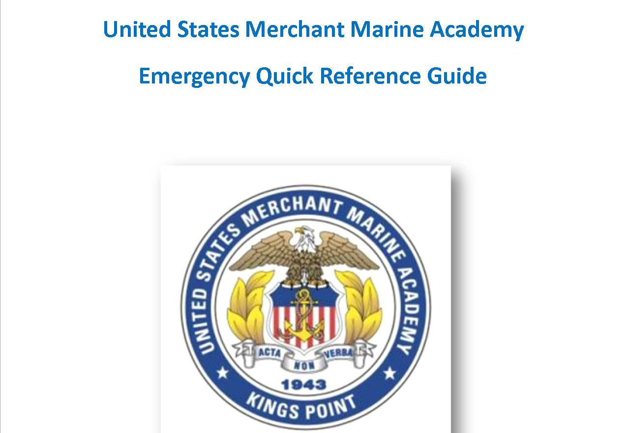 USMMA Emergency Reference Guide Cover