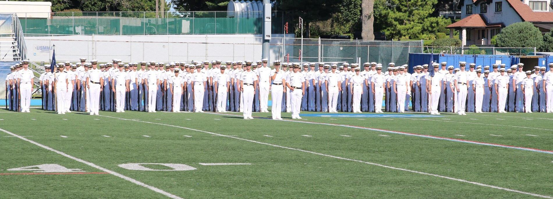 Cadets standing in formation