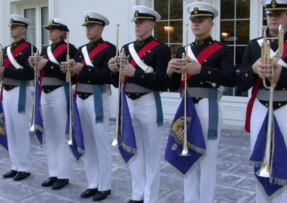 The USMMA Regimental Band.