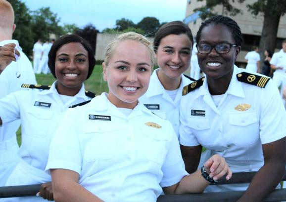 Female Midshipmen at Ring Dipping